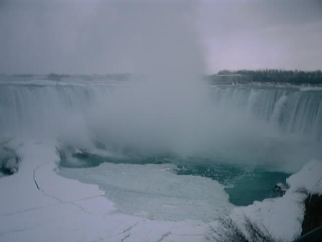 カナダの冬のナイアガラ