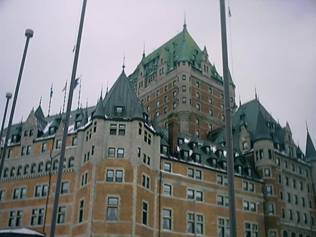 カナダの冬のケベック